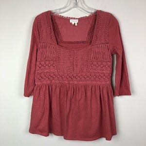 Anthropologie Meadow Rue Boho Lace Top Small